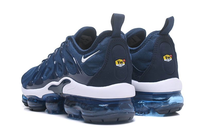 8eab1468d9bb ... 2018 NikeLab VaporMax x Cheap Nike Air Vapormax Plus Collegiate Navy  White On VaporMaxRunning