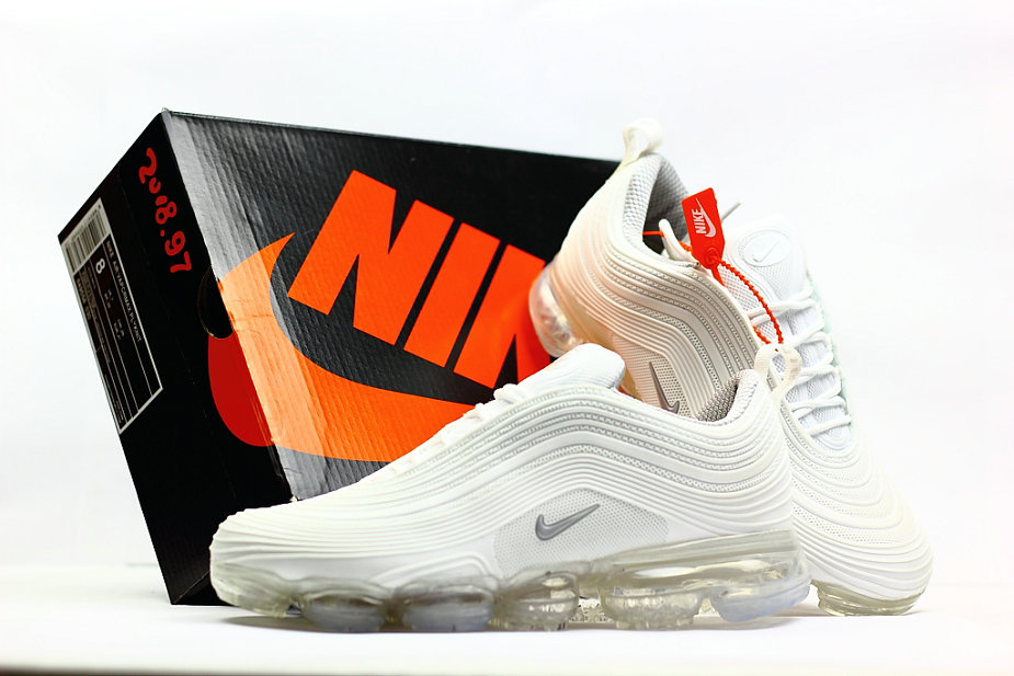 2018 Nike Air VaporMax x Air Max 97 Triple White Cheap Sale