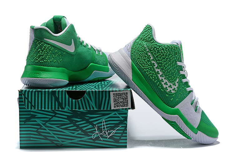 2018 Nike Kyrie Irvings 3 III Grass Green White Cheap Sale On VaporMaxRunning