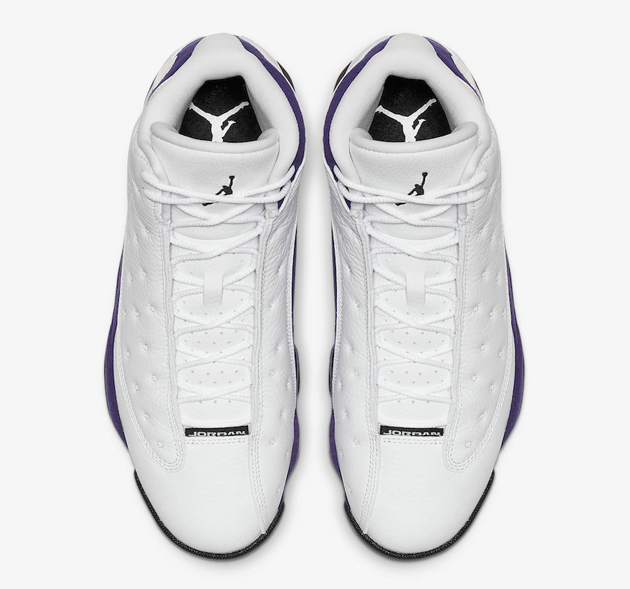 2021 Cheap Nike Air Jordan 13 Lakers White Black-Court Purple-University Gold 414571-105 On VaporMaxRunning