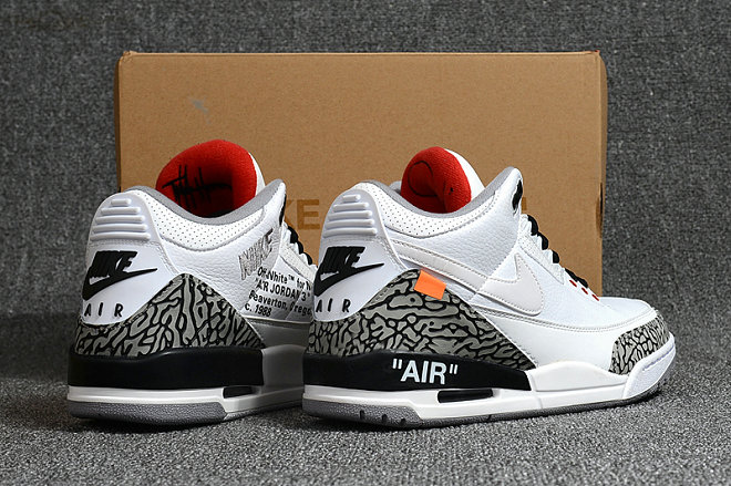 Air Jordan 3 White Grey Black Retro Cheap Sale On VaporMaxRunning