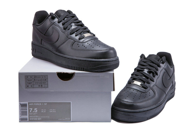 CHEAP NIKE AIR FORCE 1 NK AF1 LOW WOMENS ALL BLACK On VaporMaxRunning
