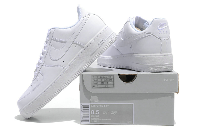 CHEAP NIKE AIR FORCE 1 NK AF1 LOW WOMENS ALL WHITE On VaporMaxRunning