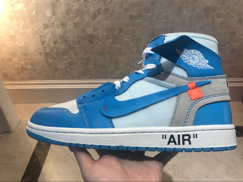 jordan one off white bleu