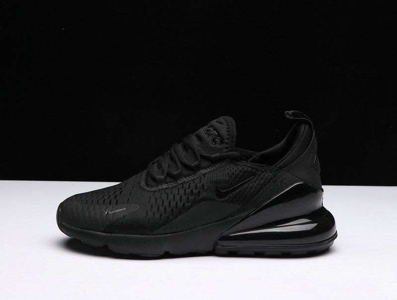 3ca1092e8c8 ... New 2018 Air Max Cheap x Nike Air Max 270 Triple Black Lands Online On  VaporMaxRunning ...