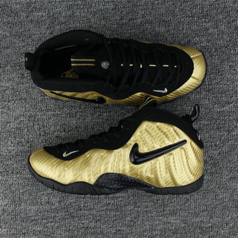 Cheap Nike Air Foamposite One Luxury Gold Color Black On VaporMaxRunning