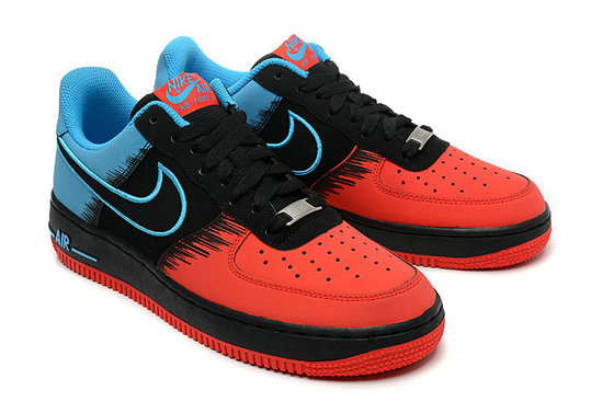 2a32afbfcc4ae Cheap Nike Air Force 1 Low Blue Black Red On VaporMaxRunning-Cheap ...
