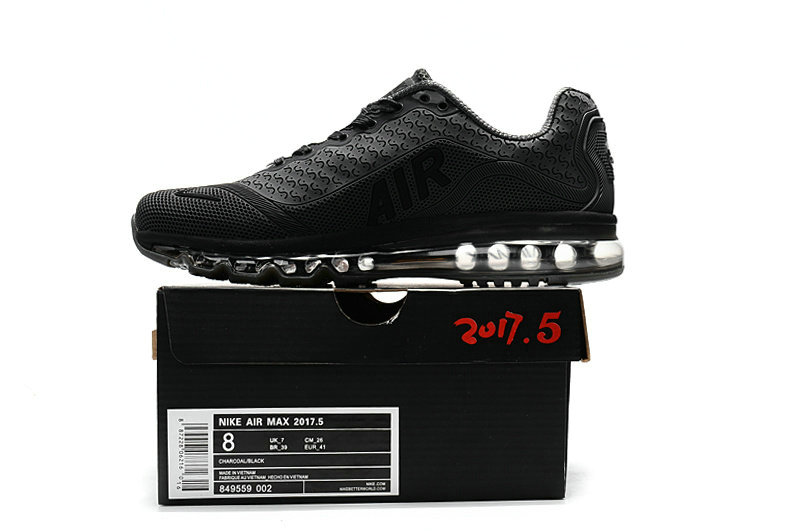Cheap Nike Air Max 2017 Mens Rubber Patch Black Grey On VaporMaxRunning