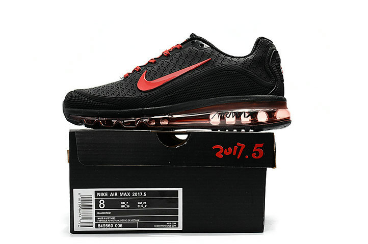 Cheap Nike Air Max 2017 Mens Rubber Patch Red Black On VaporMaxRunning