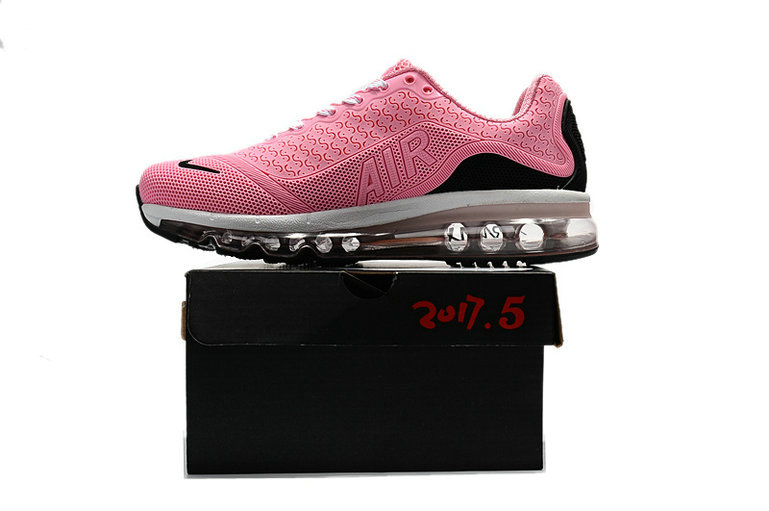 Cheap Nike Air Max 2017 Womens Rubber Patch Pink White Black On VaporMaxRunning
