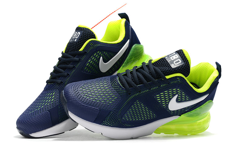 Cheap Nike Air Max 270 Running Shoes Rubber Label Navy Blue Green