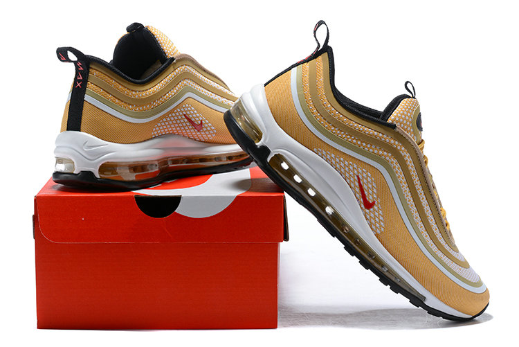 Cheap Nike Air Max 97 Ultra 17 Gold Red Black White On