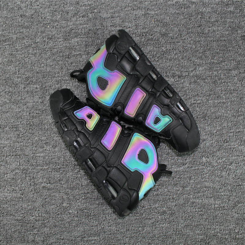 605a2560af7 Cheap Nike Air More Uptempo Colorway Rainbow Black On ...
