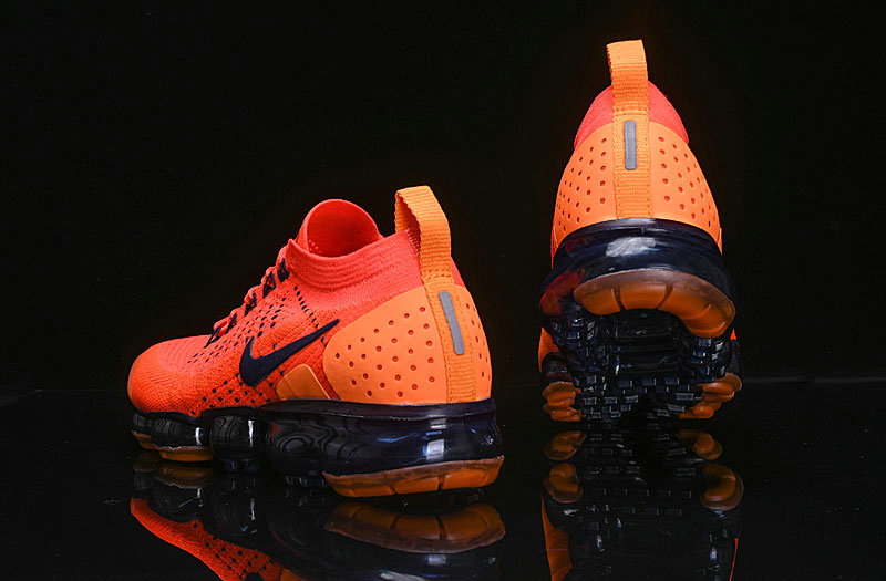 Cheap Nike Air VaporMax Flyknit 2.0 Womens Shoes Navy Blue Orange