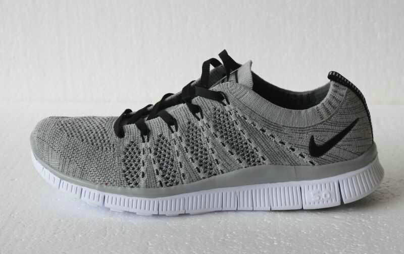 Cheap Nike Free Flyknit 5.0 Running Mens Shoes Grey Black White On VaporMaxRunning