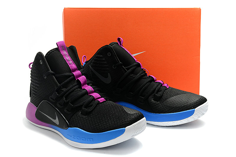 Cheap Nike Hyperdunk X EP Basketball Shoes Black Purple Blue