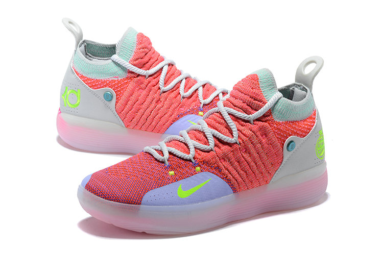 Cheap Nike KD 11 EYBL Hot Punch Lime Blast-Pure Platinum
