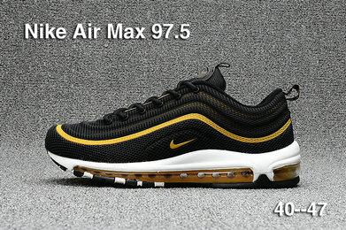 e5bb99ea8fd221 ... Cheap Sale Nike Air Max 97 Mens Yellow Black White On VaporMaxRunning