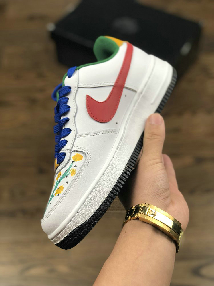 NIKE AIR FORCE 1 07 CXP1710-149PC Red White Yellow Blue