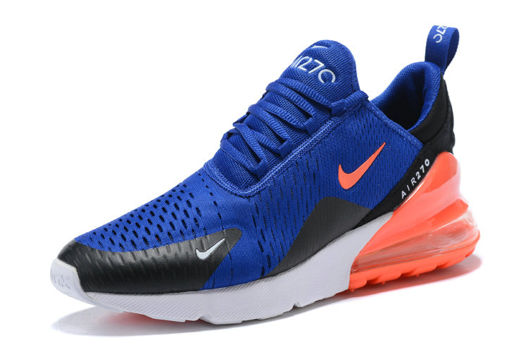 Nike Air 270 Cheap Nike Air Max 270 Orange Royal Blue Black White