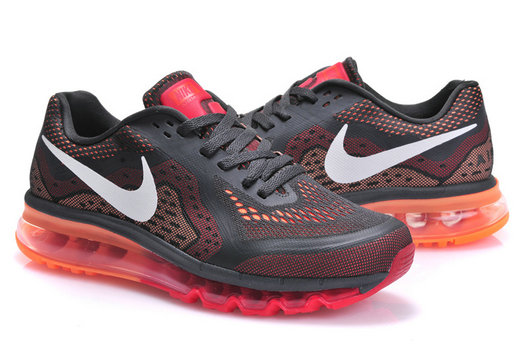 Nike Air Max 2014 Mens Running Shoe Dark Gray Red Orange On VaporMaxRunning
