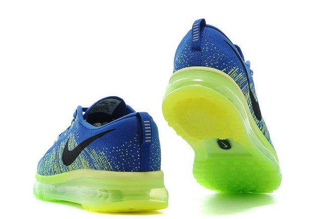 Nike Flyknit Air Max Royal Blue Ne On GreenOn VaporMaxRunning
