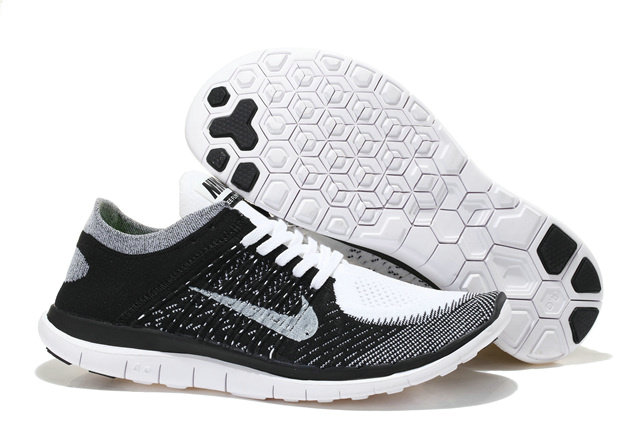 Nike Free 4.0 Flyknit Men Black Grey White On VaporMaxRunning