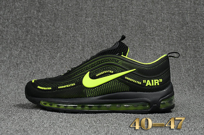reputable site 7a59c 334fd Undefeated x Nike Air Max 97 Fluorescent Green Black Cheap ...