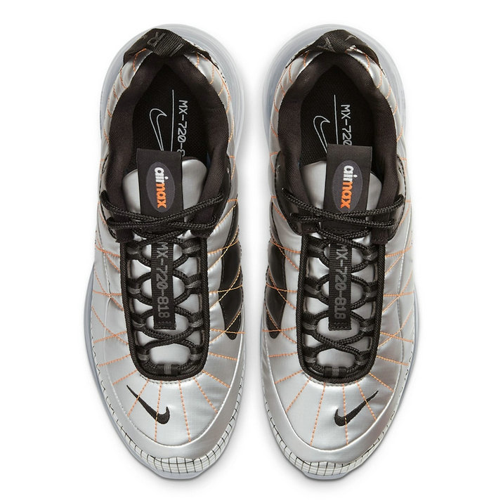 Where To Buy 2020 Mens Cheap Nike Air MX 720-818 Metallic Silver Black-Total Orange BV5841-001 On VaporMaxRunning