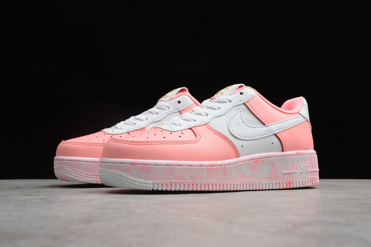 Womens Nike Air Force 1 UPSTEP 596728-031 Pastel White Blanc
